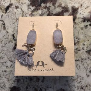 Chloe and isabel purple stone and diamond earrings